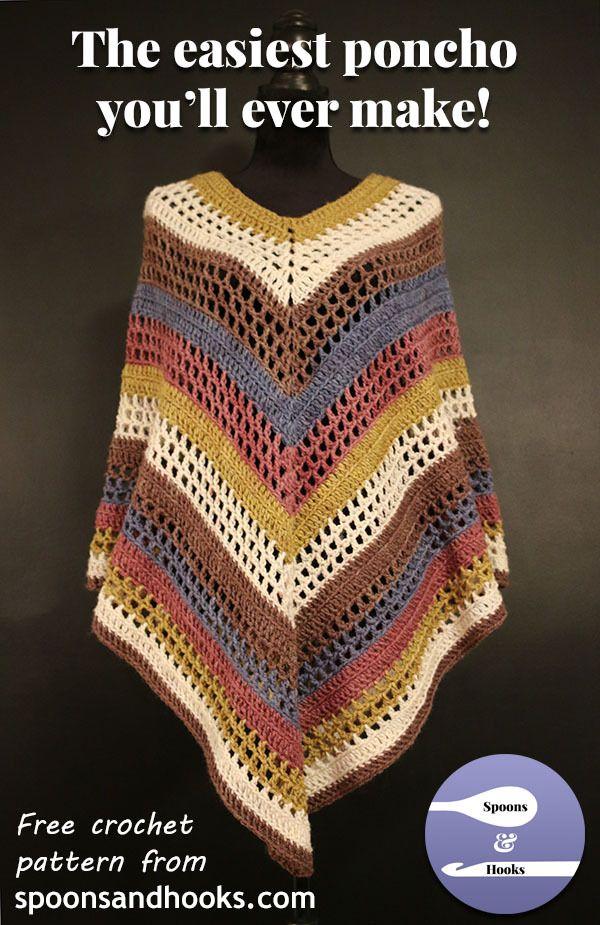 Mejores 167 imágenes de Crochet Poncho en Pinterest   Punto de ...
