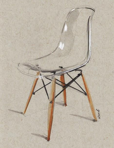 """Chair sketch"" by Miloradovic Vjekoslav."