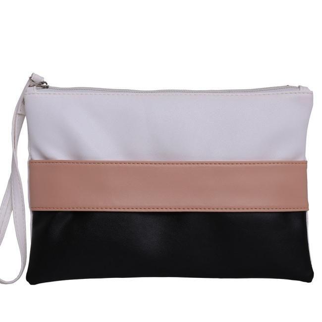 2017 New Patchwork Women's Clutch Leather Stitching Hit Women Envelope Evening Bag Female Clutches Embrayage Sac Bolsas Feminina