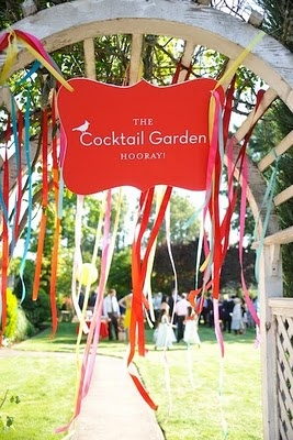 """I love this idea.. only instead of """"Cocktail Garden"""" It would be an entrance to the Reception"""