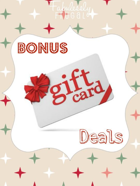 We've got a great roundup of Bonus Gift Card Deals going on this year. Might as well get yourself a bonus while you're buying gifts!