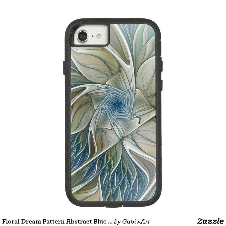 Floral Dream Pattern Abstract Blue Khaki Fractal Case-Mate Tough Extreme iPhone 7 Case