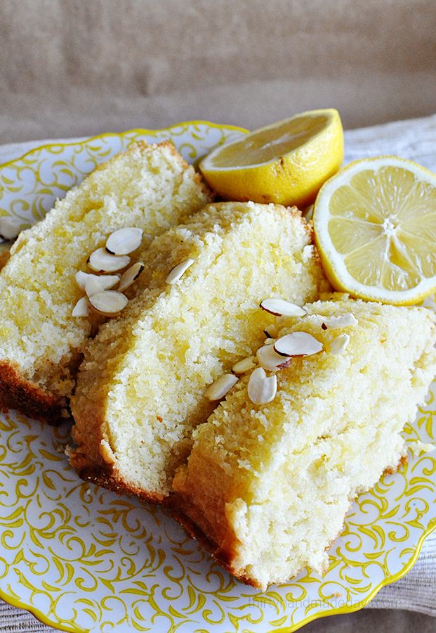 Glazed Lemon Bread with optional almond topping- amazing and simple ...