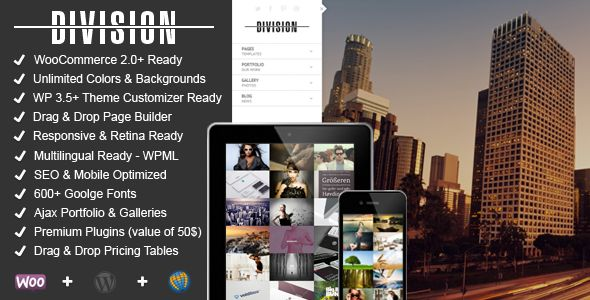 Division - Fullscreen Portfolio Photography Theme - Photography Creative