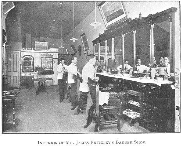Fritzley's Barber Shop, Goderich, Ontario c.1897 #Goderich #RediscoverGoderich #VintageGoderich