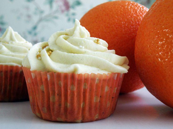 Heavenly Cupcake | Apelsin och Kardemumma Cupcakes med Vit choklad | http://heavenlycupcake.se