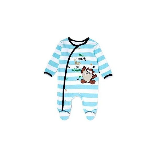 Taz Baby Sleepsuit Baby George at Asda ($8.64) ❤ liked on Polyvore featuring baby, baby boy and baby boy clothes
