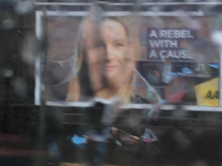 2017 UK election candidate lives up to her tagline as rain washes away adverts meant to replace her