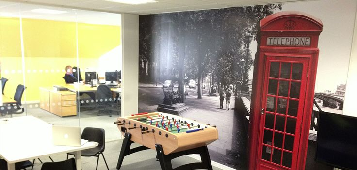Creative Office Branding using wall graphics from Vinyl Impression, Wall Stickers give a professional look to an office or business, with installation and fitting available we can transform your space into an workplace worth working in. Improve your office culture and join the silicone valley office trend. Office Interior design is what we do best. Wall Decals and transfers are the perfect way to change the office decor. Brighten up your office building and bring it to life with a wall mural…