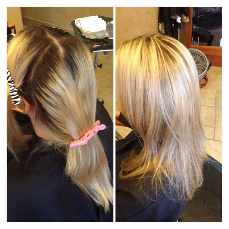 Highlights, before and after hair, blonde, by Josie