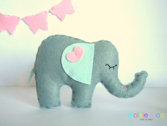 Filz Elefant PDF Pattern Verwendung für Baby von MaisieMooNZ