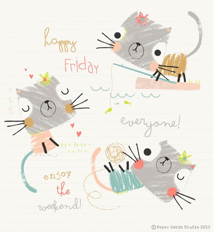 paperrobinstudio_cats happy friday
