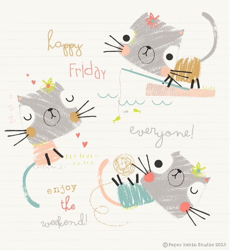 paperrobinstudio_cats happy friday
