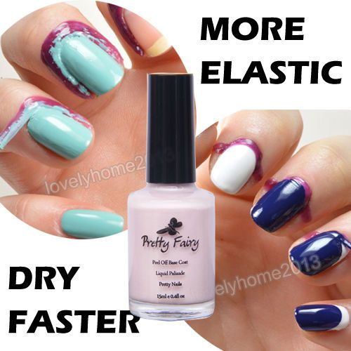Pretty Fairy 15ml Pink Color Peel Off Liquid Nail Art Latex Tape Palisade Nail Polish Base Coat Elastic FAST DRY Manicure Tool