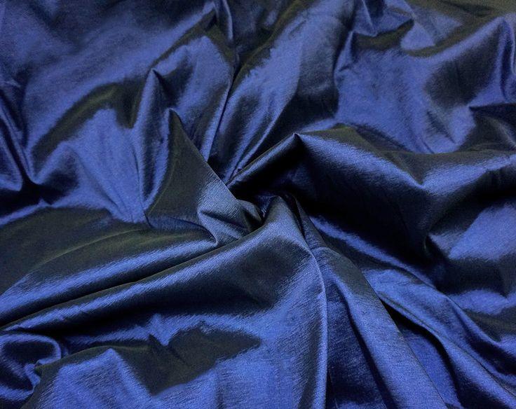 """DARK BLUE STRETCH FAUX SILK TAFFETA FABRIC 60""""W BRIDESMAID DRESS TABLECLOTH"""