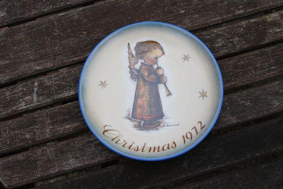 Sister Bertha Hummel Christmas Plate Vintage 70s by SoulSisters16