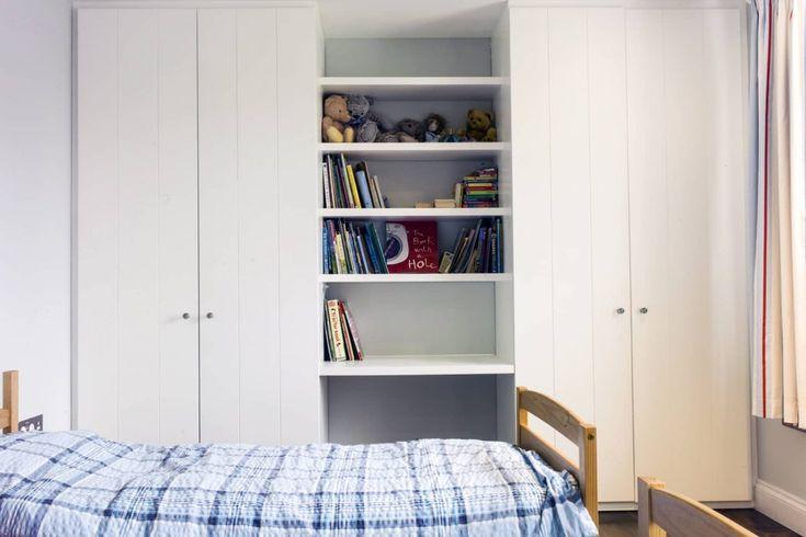 Handmade white bookcases. Custom made, fitted. www.bathbespoke.co.uk