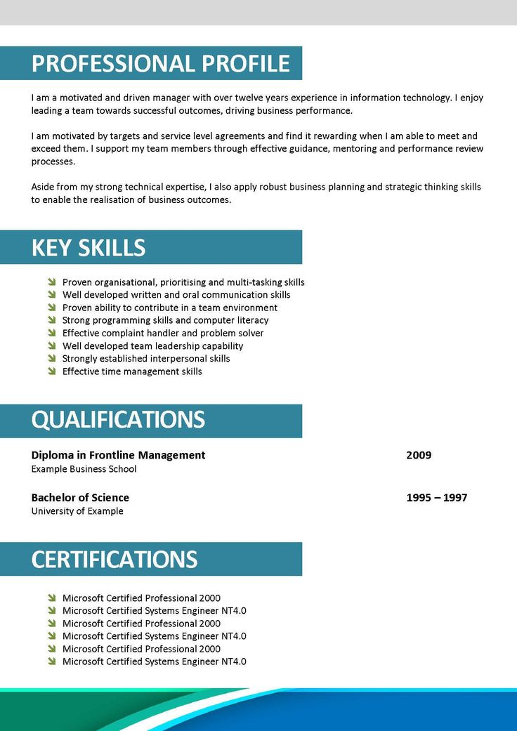 profile resume samples cover letter examples profiles