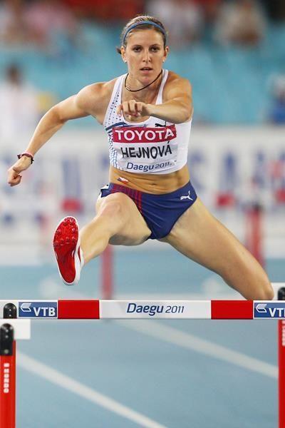 Zuzana Hejnova-3rd 400m Hurdles. Czech Republic.