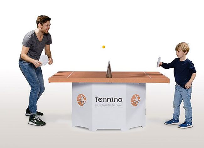 Tennino the Eco-Friendly Ping Pong Table Made from Cardboard by Kickpack l #cheap #design #selfassemble