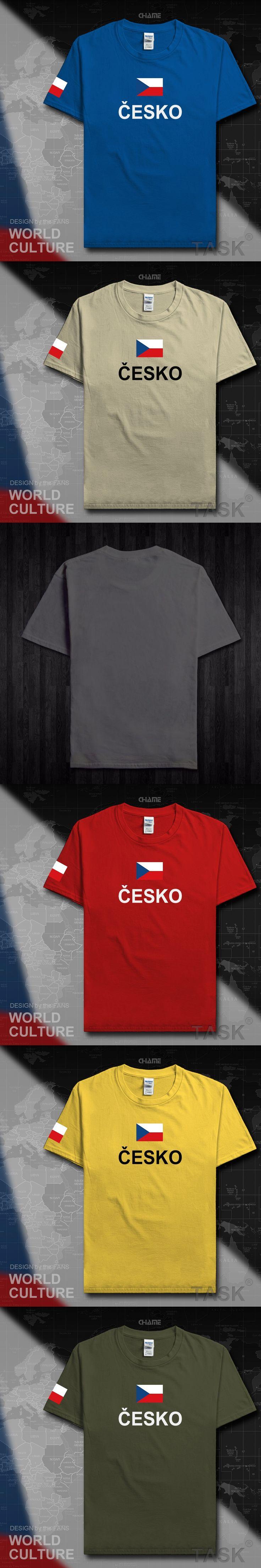 Czech Republic Czechia men t shirt fashion 2017 jersey team nation 100% cotton t-shirt sporting clothing tees country flag CZE