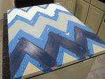 DIY Chevron Canvas Art with Free Printable Large Stencil