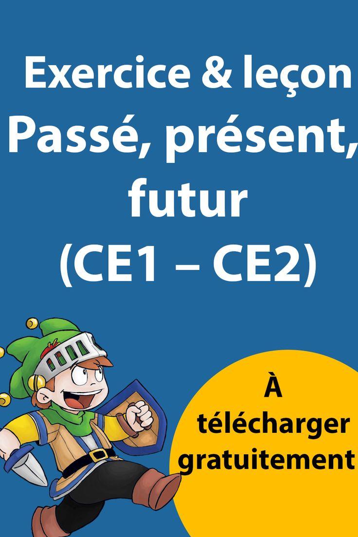 Passé Présent Futur CE1 - CE2 - Exercices Évaluation & Leçon à imprimer en 2020 | Ce1 ce2, Ce1, Ce2