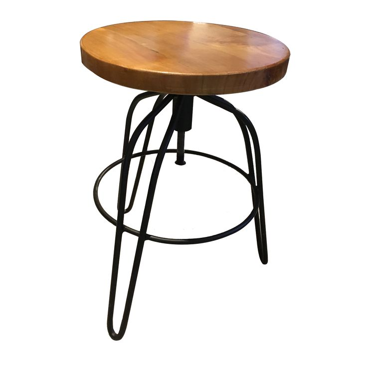 Stool Turning - Black. Enjoy the unique shape of Stool Turning. Let share more stories while sitting on it.