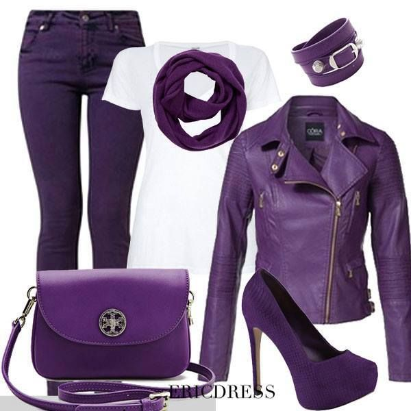 I like these things separately to much purple all together . Not the heels or the bracelet but the rest is cute.