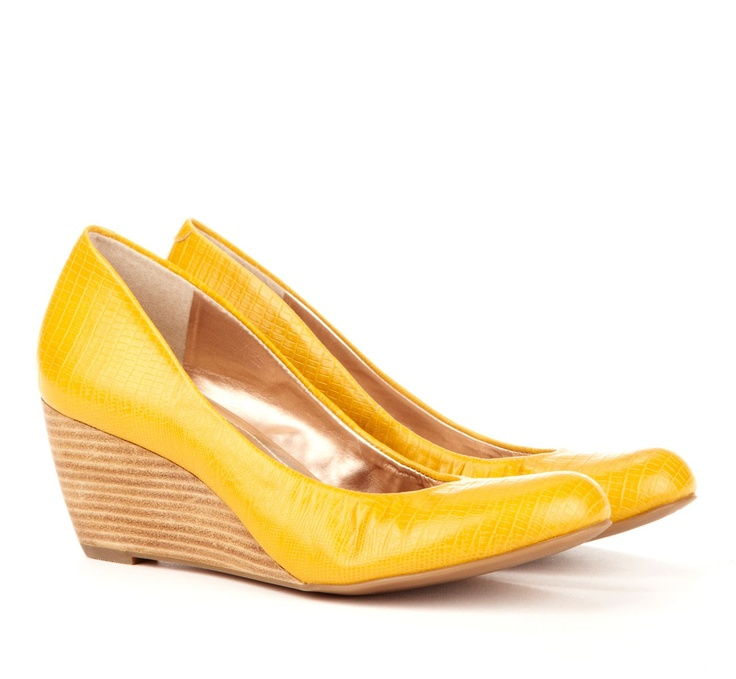 Best 25  Yellow wedges ideas on Pinterest | Sexy heels, Wedge ...