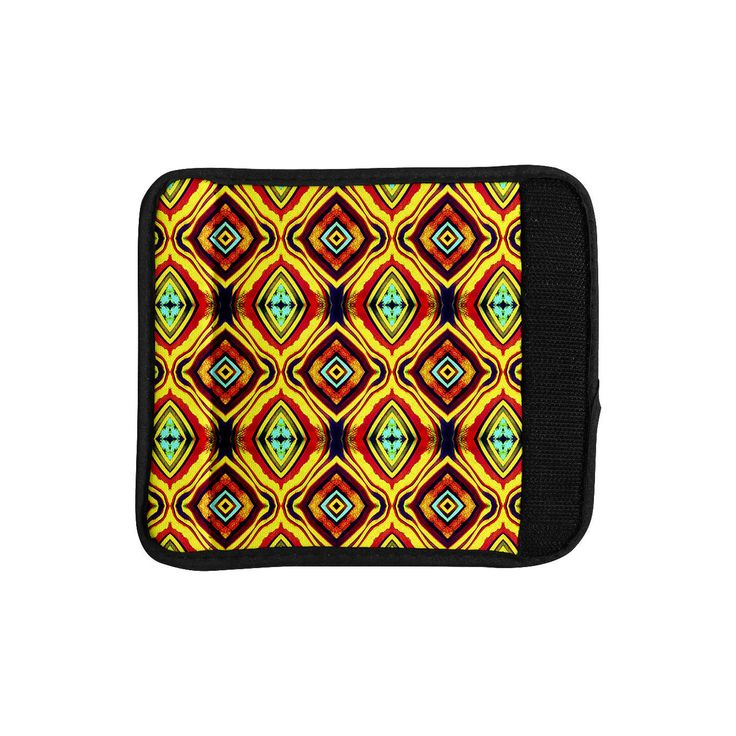 """Anne LaBrie """"Diamond Light"""" Yellow Red Luggage Handle Wrap"""
