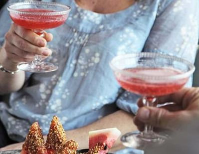 Rose-scented strawberry cocktails recipe - Recipes - BBC Good Food