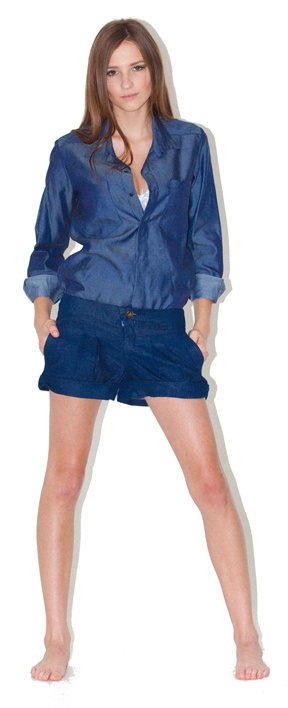 denim shirt denim shorts - Basic style denim jacket, Hot item of the season, fastens at front with metal jeans buttons, waist length, pocket detailing on chest, can merchandise with gilli peg pants