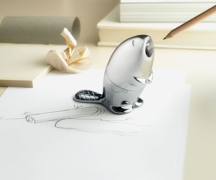 beaver pencil sharpener by rodrigo torres kastor for alessi