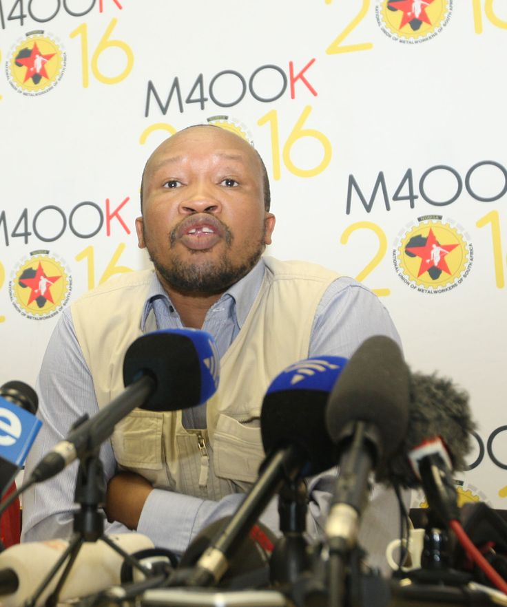 Numsa has rejected a 10 percent pay offer from employers and called on its 220 000 striking members in the sector to intensify nearly two weeks of industrial action.  Click here for the full story: http://bit.ly/W9ROA7  Picture Caption: Numsa secretary general Irvin Jim at a media briefing at their offices in Johannesburg on Sunday, July 13. Credit: Simphiwe Mbokazi.