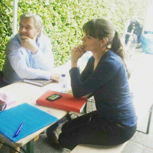 Angela en Victor op de set van Flikken Maastricht