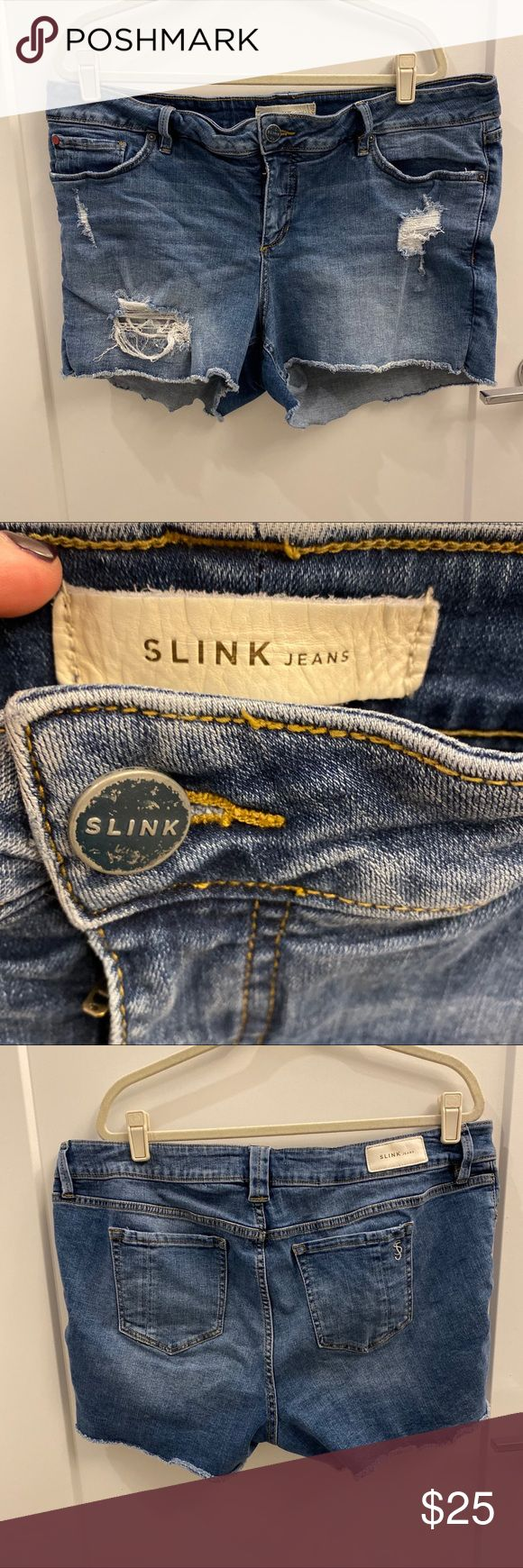 Slink CURVY jean shorts 18W Good condition.  Slink CURVY jean shorts 18W Slink S…