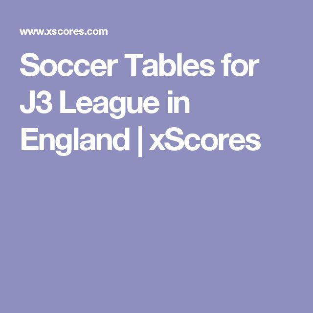 Soccer Tables for J3 League in England | xScores