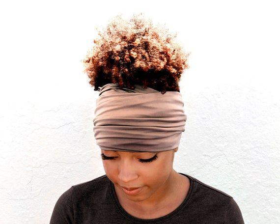 Cocoa Blush Head Scarf Wide Headband Boho Head Wrap Yoga Headband Head Wrap Head Scarf For Women Bohemian Headband Eco Friendly Packaging