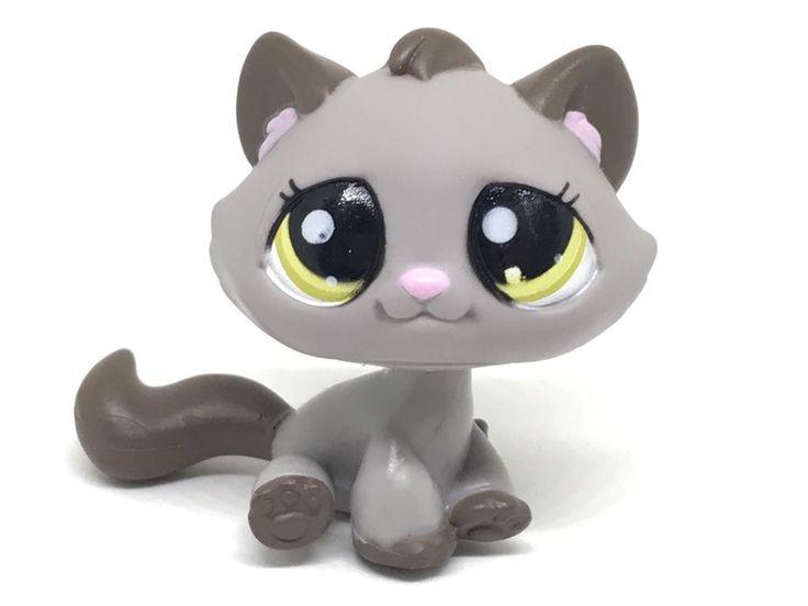 LITTLEST PET SHOP TABBY KITTEN ~ LPS DARK GREY TABBY KITTEN GREEN EYES ~ #2215  | eBay