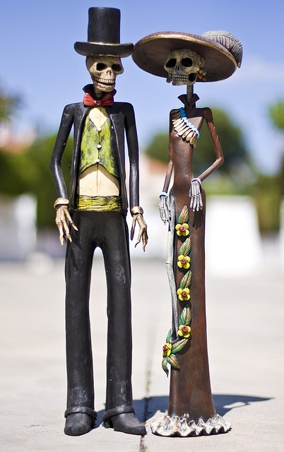 Catrin y Catrina - day of the dead art from San Miguel de Allende