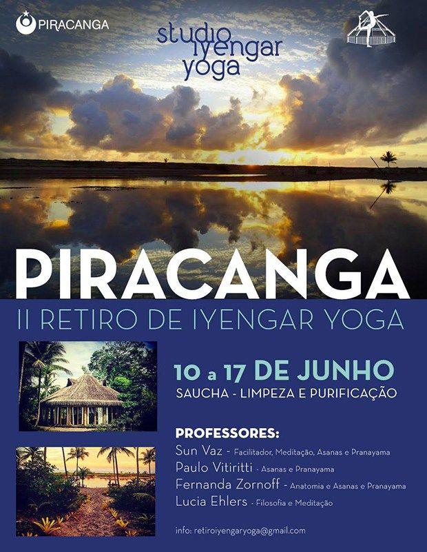 Retiro de yoga na Bahia! Iyengar Yoga, filosofia e meditação!