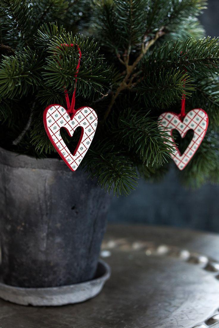 Heart Ornaments by Naasgransgarden https://www.scandinavianshoppe.com/store/p/1299-Little-Heart-Ornament-Set-Ceramic-4-Pack.html