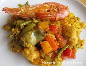 He preparado este arroz con verduras y unos gambones que ha salido muy rico. Las verduras las podemos ir variando a nuestro gusto, con l...
