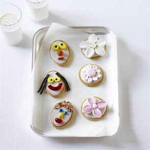 Funny Faces and Fancy Flower Biscuits