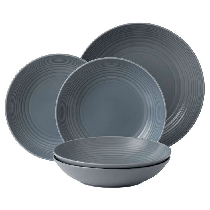 Gordon Ramsay by Royal Doulton Maze Dark Grey 5-Piece Pasta Set