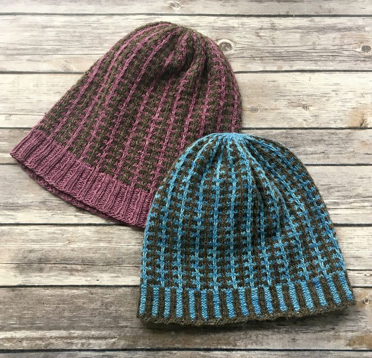 A simple slipped-stitch pattern creates a fun visual element to this slouchy hat. Pattern includes instructions for two variations of ribbing to start off your pattern - you can either knit the Corrugated Rib stitch as shown in the sample, or keep things simple with a stretchy K2, P2 rib. If you can knit stripes, you can make this hat!