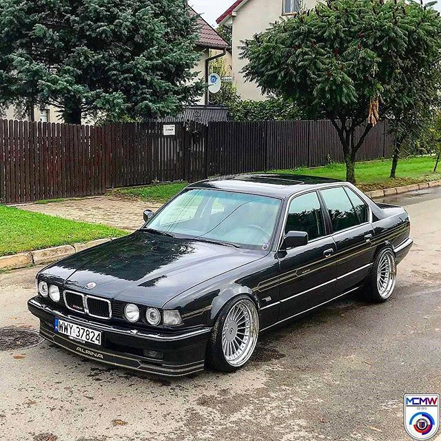 """MyCarsMyWay no Instagram: """": @mikael_bmw 's E32 Alpina B12 MyWay I have said it before and will say it again. This is the BEST looking 7 series of..."""
