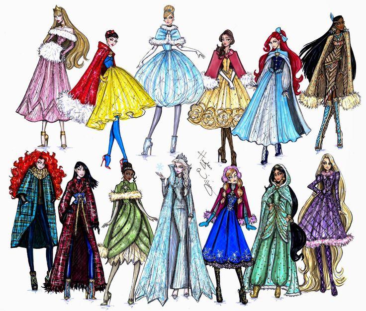 Hayden Williams Fashion Illustrations: Disney Divas 'Holiday' collection by Hayden Williams