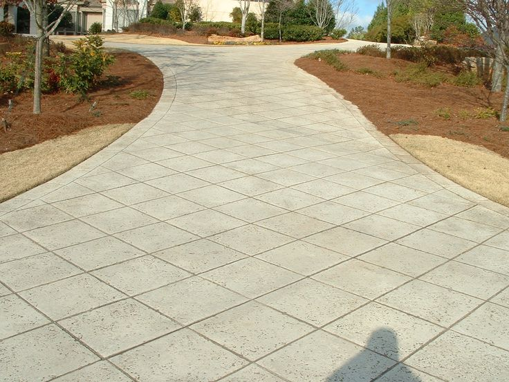 A Diamond In The Rough Hemma Stamped Concrete Driveway